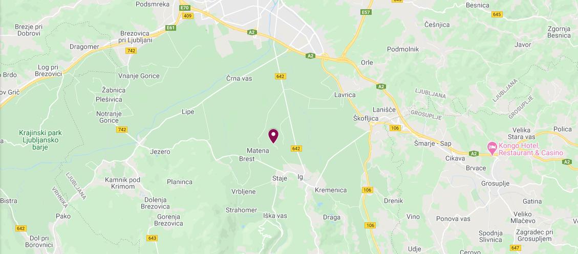 Zemljevid z lokacijo podjetja